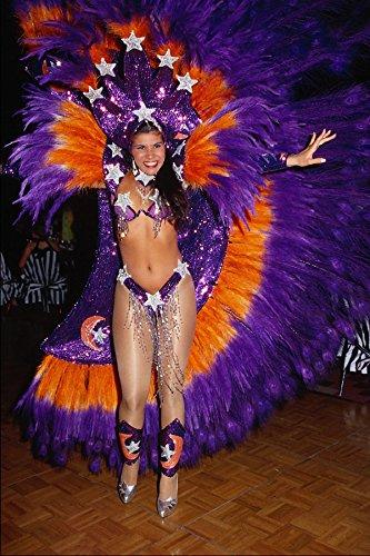 614098 Kostuum Voor Braziliaanse Carnaval A4 Photo Poster Print 10x8