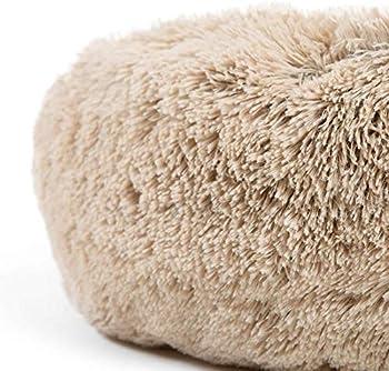 Puppy Love Panier Chien, Coussin Chien Anti Stress XXXL Dehoussable,Paniers Et Mobilier pour Chiens, Lit Moelleux Rond pour Chien, Lavable, ConfortableBrown-70cm