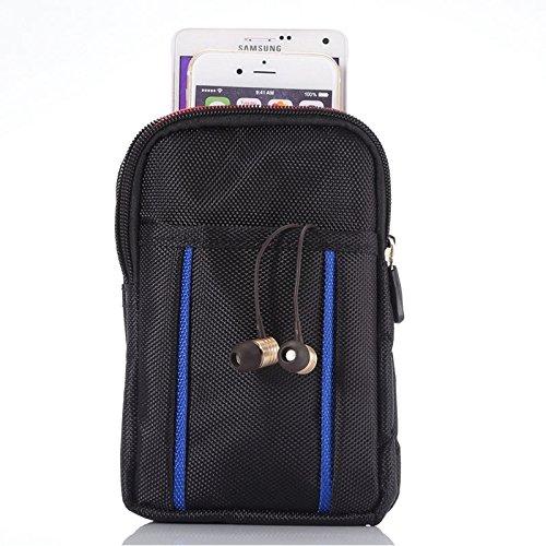 NMYANXU CELINEZL universele multifunctionele 6,3 inch dubbele rooster tweekleurige polyester parel materiaal opslag taille packs/taille tas/wandeltas/Camping tas voor iPhone X & 8 Plus & 7 & 7 Plus &