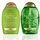 OGX Strength + Body Bamboo Fiber Full Shampoo and Conditioner Set, 13 Fl