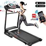ANCHEER Treadmill, Folding Electric Treadmills, Motorized Running Treadmills with Rolling...