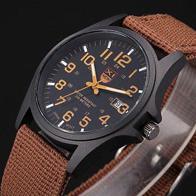 Schöne Uhren, Stunden Digital-Uhr-Uhren para hombre Herren-Uhr Quarz relogio masculino Militärsport Männer Casual Armbanduhren ( Farbe : Braun )