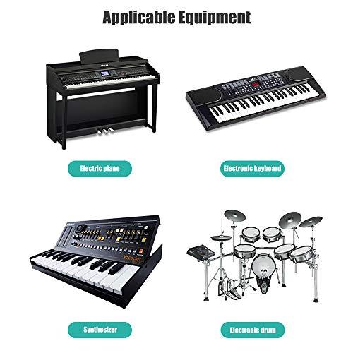 Cable USB B MIDI para Instrumentos 2M, Cable USB A a USB B Compatible Con Piano, Controlador Midi,Teclado Midi, Grabación Interfaz de Audio, Micrófono USB