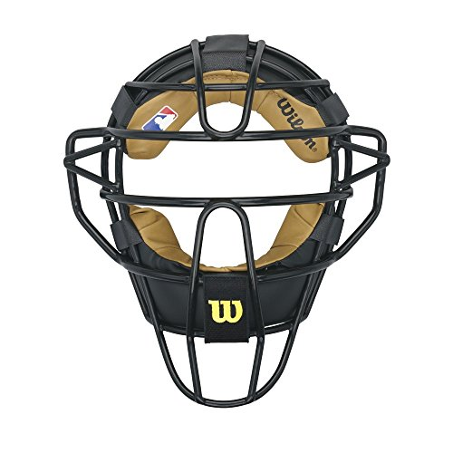 Wilson Dyna-Lite Steel Catcher's Facemask, Black