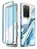i-Blason Handyhülle für Samsung Galaxy S20 Ultra Hülle Glitzer Hülle Bumper Schutzhülle Glänzend Cover [Cosmo] OHNE Bildschirmschutz 6.9 Zoll 2020 Ausgabe, Blau