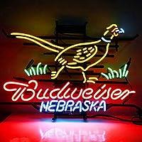 ネオンサイン『Budweiser Nebraska 』NEON SIGN ディスプレイ サインボード、ギフト 部屋の飾り 省エネ バー カフェ 喫茶店 広告用看板 クラブ及び娯楽場所等 インテリア 20*18インチ ME192