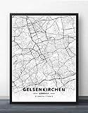 Leinwand Bilder,Deutschland Gelsenkirchen Stadtplan