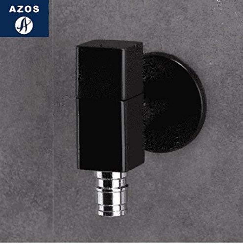 DOJOF Bathroom Vanity Sink Faucet Brass Black Square Cold Water Bathroom Basin Sink Tap Bathroom Faucet