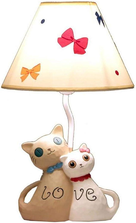 Kunst-Lampen Retrohngelampe Deckenleuchte Moderne Liebhaber Harz Tuch Katze Hochzeit Nacht Prinzessin Lampe Kinderzimmer Tischleuchte Schreibtischlampe Romantische Hochzeitszimmer Geschenk
