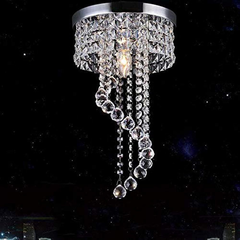 XTF-LIGHTS Kristallleuchter Regentropfen Deckenleuchte Moderne Transparente LED Deckenleuchte Für Esszimmer Schlafzimmer Wohnzimmer 120V-20 cm in Diameter