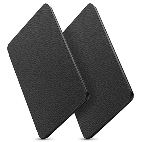 OMOTON All New Kindle Case Cover (2 Pack), The Thinnest Lightest PU Leather Smart Shell Cover with Auto Sleep Wake Feature for All New Kindle 2019 Released, Black+Black