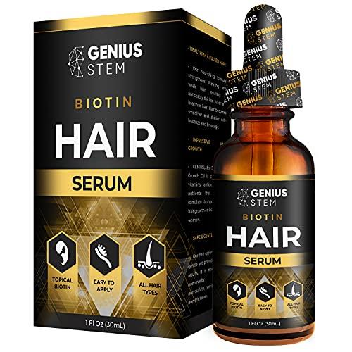 enius Hair Oil, Hair Growth Support Serum, to Support Stronger, Thicker, Longer Hair, Hair Growth Support Treatment for Women and Men Hair Serum 1fl oz