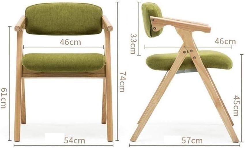 Bois massif Chaise pliante Dossier Chaise de salle à manger Chaise de réception Ménage Loisir bureau de famille Café (Color : F) F