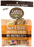 Earth Animal No Hide Chicken Dog Chews 2 Pack (4 inch) The Safe Alternative to Rawhide!!