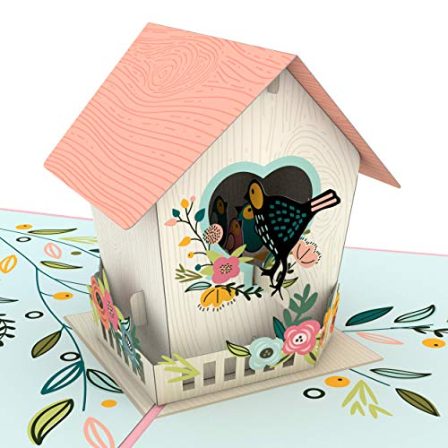 Lovepop Mother's Day Birdhouse Pop Up Card - 3D Card, Mother's Day Pop Up Card, Card for Mom, Mothers Day Card for Wife, Greeting Card, 3D Mother's Day Card, Mom Card