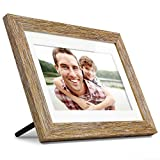 "Aluratek 10"" Distressed Wood Digital Photo Frame with Auto Slideshow, 1024 x 600 (ADPFD10F), 10' Wood Border, 10 Inch"