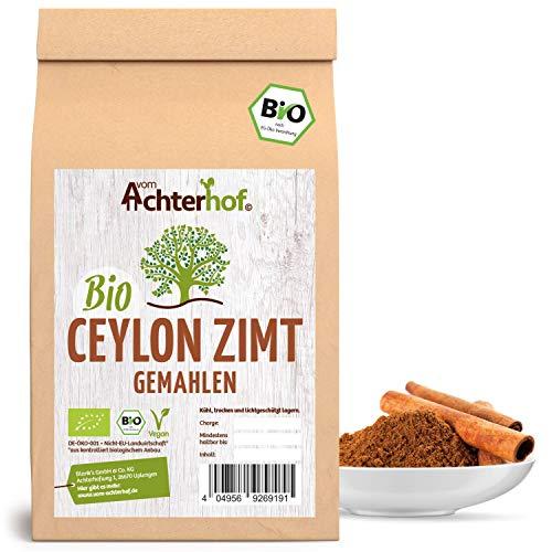 Bio Ceylon Zimt gemahlen (250g) mit wenig Cumarin in premium Qualität | 100{aee34a2590129f89fea36805c2d679c8a64d8898239bb47d42b045246602d9ee} ECHTES Bio Ceylon Zimt Pulver