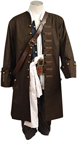 Fuman Pirates Of The Caribbean Jack Sparrow Jacke Mantel Cosplay Kostüm S