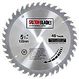 Saxton TCT13540T Lame de scie circulaire à bois TCT 135 mm x alésage 12,7 mm x 40 dents pour Bosch Makita Dewalt