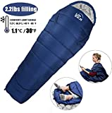 UPSKR Sleeping Bag Lightweight & Waterproof for Adults & Kids Cold Weather, 3 Season Mummy Sleeping Bags Great for Indoor & Outdoor Use Hiking Backpacking Camping Traveling with Compression Sack