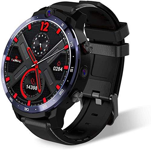 Exquisito reloj inteligente deportivo 4G Fitness y Actividades Tracker con GPS integrado Música de ritmo cardíaco Notificatons Inteligente Ip68-Life Impermeable Cámaras duales 64Gb Gran Memoria C-C