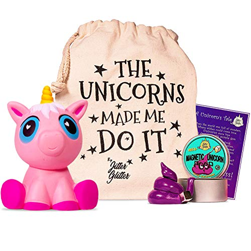 Magnetic Unicorn Putty Stress Relief Kit - Jumbo Pink Unicorn Squishy and Magnetic Putty with Magnet - Unicorn Gift Set for Girls who Love Unicorns. Fun Sensory Play Toy Set for Silly Therapy, Ages 8+ (Best Way To Stop Farting)