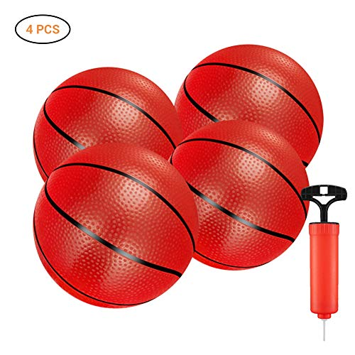 SayHia 4 Mini Basketball Softball Kinder Spielzeug Geschenk 16CM Basketball (mit Pumpe + aufblasbarer Nadel)