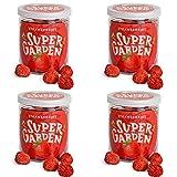Supergarden paquete económico: 4 tazas de fresa liofilizada - Snack saludable - 100 % puro y...