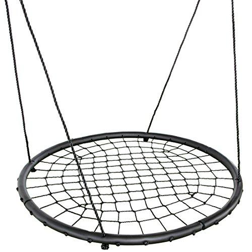 Ultrakidz Nestschaukel,120 cm Durchmesser, Storchennestschaukel,extra großer Fläche, inklusive höhenverstellbarer Hängeseile, Schaukelnest mit gepolsterten Rand, robust verflochtenen Seile