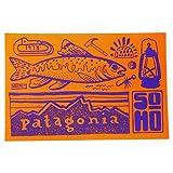 patagonia(パタゴニア) ソーホー ニューヨーク ステッカー 橙 SOHO NYC [並行輸入品]