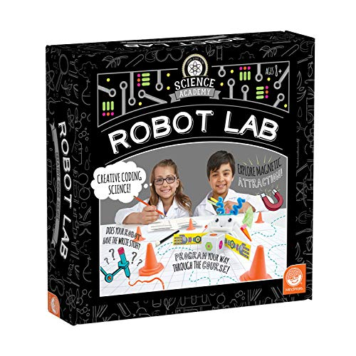 MindWare Science Academy Robot lab - Kids & Teens Learn Basic Coding & Complete 3+ Robot STEM Activities with Our 26pc Set - Wild & Weird Experiments for Boys & Girls - Great Educational Gift