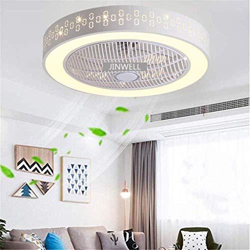 AI LI WEI Ventilador de Techo con luz LED y Mando La Creatividad Moderna Simple de la lámpara de atenuación Plaza Ultra-Quiet Ahorro de energía Aula Habitación Sala 59 cm, B (Color : B)