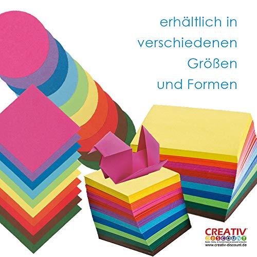 CREATIV DISCOUNT® Faltblätter 'Mini', 500 Blatt, 10 Farben, 5x5cm