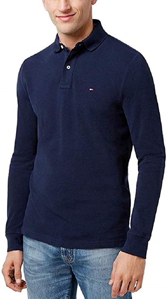 Tommy Hilfiger Mens Max Branded goods 81% OFF Long Polo Sleeve Shirt Mesh