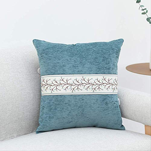 Elise kussen Cotton Linea sofa gestikt taille kussen nacht 50x50cm blauw