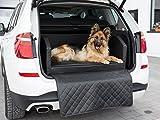 CopcoPet Travel Bed 90x70cm / Hunde-Reisebett aus Kunstleder/Hunde-Autobett/Wasserabweisende Tiermatratze/Hundebett mit Decke als Kratz- und Schmutzschutz