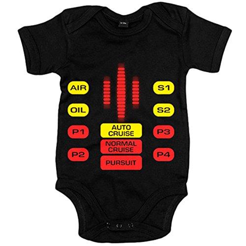 Body bebé El Coche mandos botones - Negro, 12-18 meses