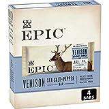 EPIC Venison Sea Salt & Pepper Bars, Keto Friendly, Gluten Free, 1.3 oz, 4 ct