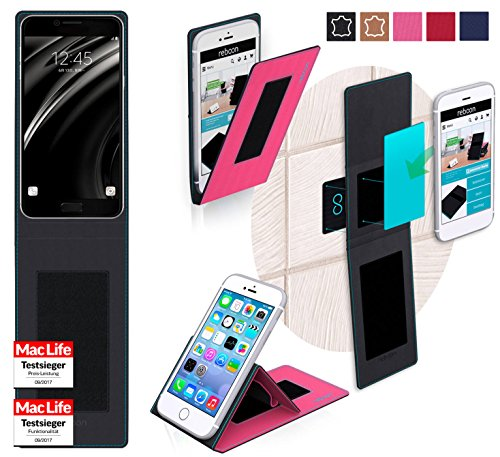 reboon Hülle für Samsung Galaxy C5 Tasche Cover Case Bumper | Pink | Testsieger