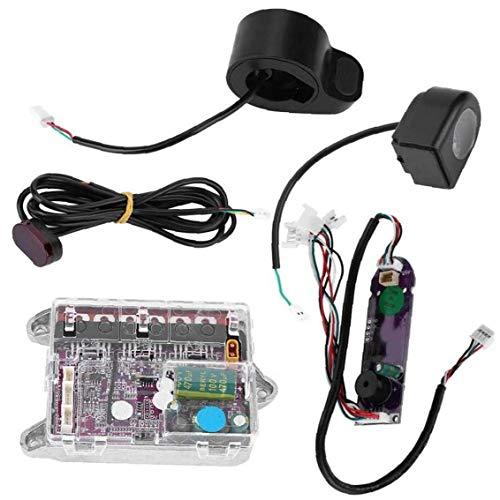 FANKUNYIZHOUSHI Controlador Scooter Eléctrico, Controlador De La Placa Base, Monopatín Eléctrico Kit, Ajuste para Xiaomi M365pro, Accesorios del Scooter, Negro Índice Suministro