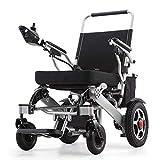 YLJYJ Silla de Ruedas eléctrica Plegable Silla de Ruedas eléctrica motorizada para discapacitados Discapacitados Ancianos Equipo de Movilidad Ligero