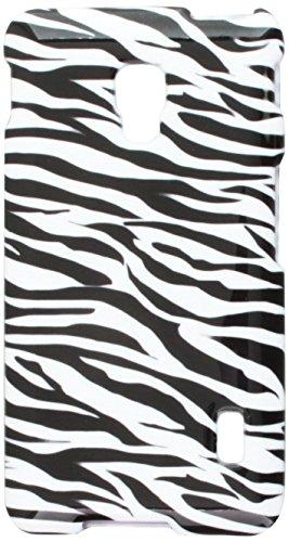 Mybat Protector Cover for LG D500 - Retail Packaging - Zebra Skin