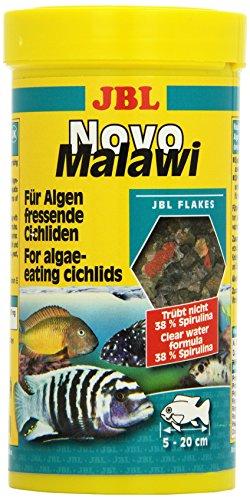 JBL NovoMalawi 30010 Alleinfutter für algenfressende Buntbarsche, Flocken 250 ml