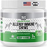 Best Allergy Immune Supplements for Dogs: Product of USA-Immune Support Anti Itch & Skin Hot Spots+Seasonal Allergies for Skin & Sinus-approx170/Chews