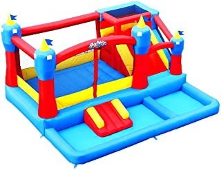 Blast Zone Misty Kingdom Inflatable Bouncer, Ball Pit, and Water Park with Slide