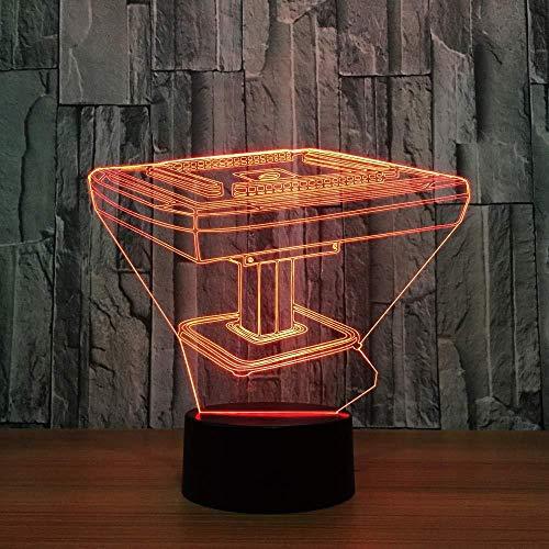3D Luz De Noche Led Deco LED Lámpara Mahjong game lámpara de escritorio creativa para cumpleaños Con carga USB, control táctil de cambio de color colorido