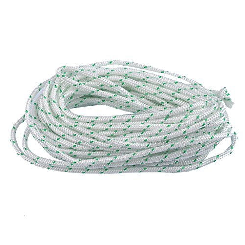HIPA Recoil Starter Rope 10-Meter (Diameter: 3.0mm / 3.5mm / 4.0mm / 5.0mm / 6.0mm) Pull Cord for Husqvarna STIHL Sears Craftsman Poulan Briggs Stratton Lawn Mower Chainsaw Trimmer Edger Brush Cutter Engine parts