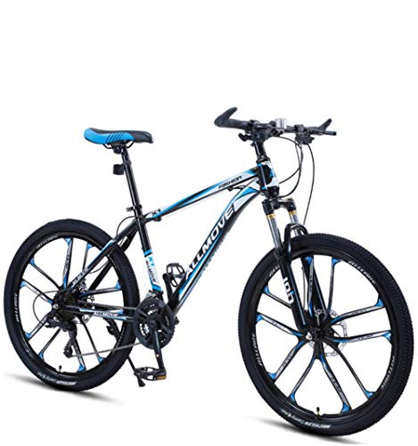 DGAGD 26 inch Mountain Bike Male and Female Adult Variable Speed Racing Ultra-Light Bicycle Ten Knife Wheel-Black Blue_30 Speed