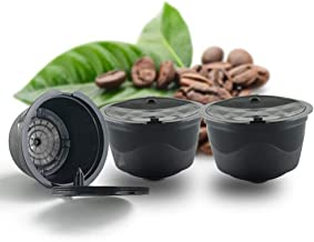 BRBHOM Refillable Dolce Gusto Coffee Capsules Reusable Dolce Gusto Coffee Filter for Compatible for Nescafe Dolce Gusto,with Coffee Spoon,Brush
