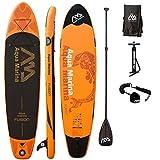 AQUA MARINA, FUSION+CARBON-Paddle+LEASH, Paddle Board, SUP, 330x75x15 cm (Misc.)